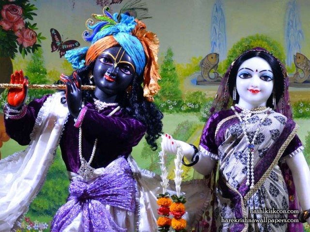 Sri Sri Radha Madan Gopal Close up Wallpaper (011)