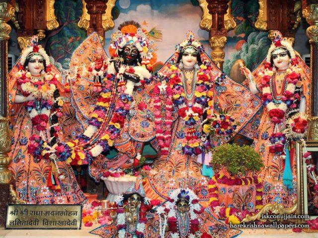 Sri Sri Radha Madanmohan Lalita Vishakha Wallpaper (007)