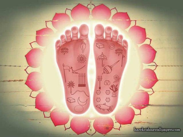 Sri Nityananda Lotus Feet Wallpaper (001)