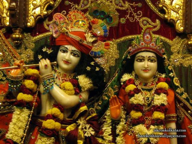 Sri Sri Radha Govind Close up Wallpaper (002)