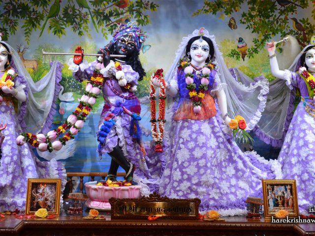 Sri Sri Radha Madan Gopal Lalita Vishakha Wallpaper (002) Size 2400×1350 Download