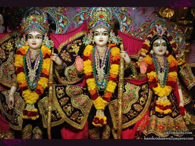 Sri Sri Sita Rama Laxman Wallpaper (002)