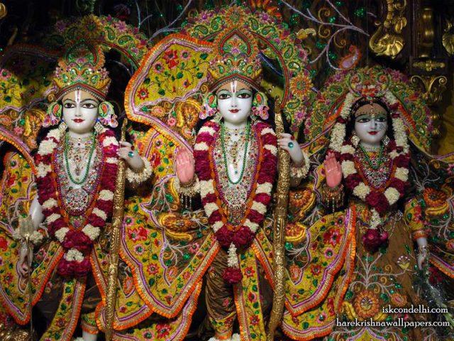 Sri Sri Sita Rama Laxman Wallpaper (003)