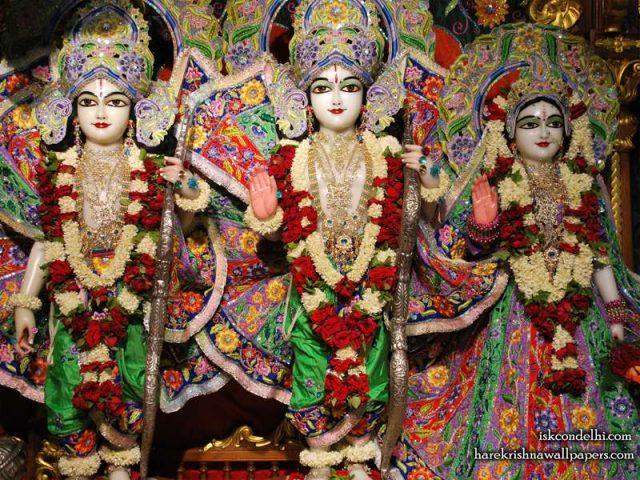 Sri Sri Sita Rama Laxman Wallpaper (005)