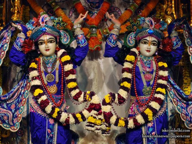 Sri Sri Gaura Nitai Close up Wallpaper (006)