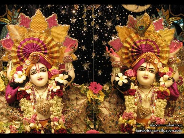 Sri Sri Gaura Nitai Close up Wallpaper (007)