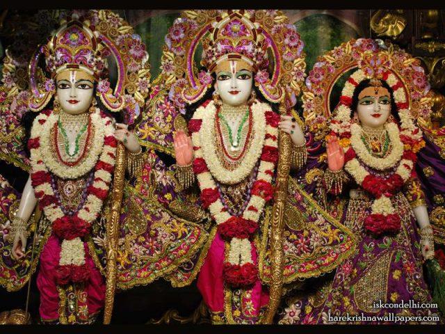 Sri Sri Sita Rama Laxman Wallpaper (007)