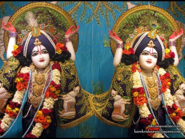 Sri Sri Gaura Nitai Close up Wallpaper (008)