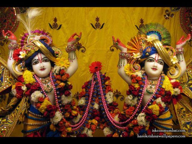 Sri Sri Gaura Nitai Close up Wallpaper (009)