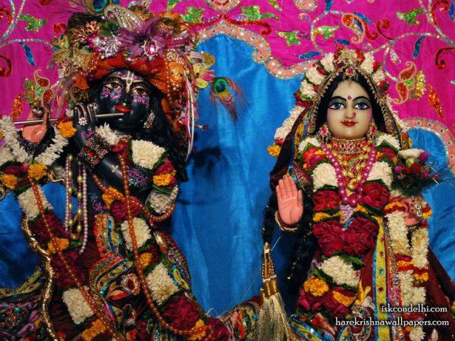 Sri Sri Radha Parthasarathi Close up Wallpaper (009)