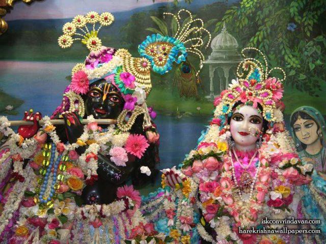 Sri Sri Radha Shyamsundar Close up Wallpaper (009)