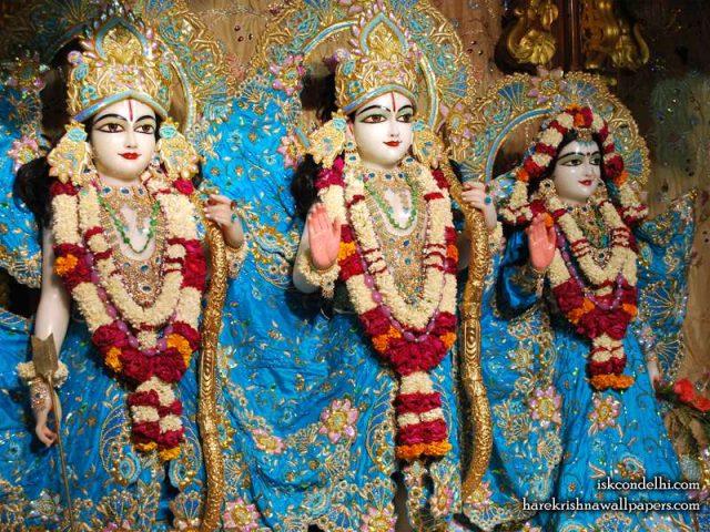 Sri Sri Sita Rama Laxman Wallpaper (009)