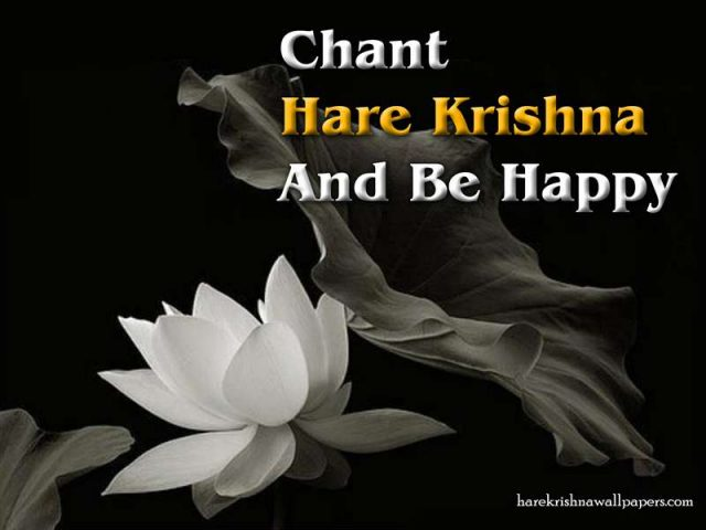 Chant Hare Krishna and be happy Wallpaper (010)