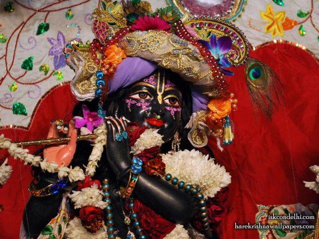 Sri Parthasarathi Close up Wallpaper (010)