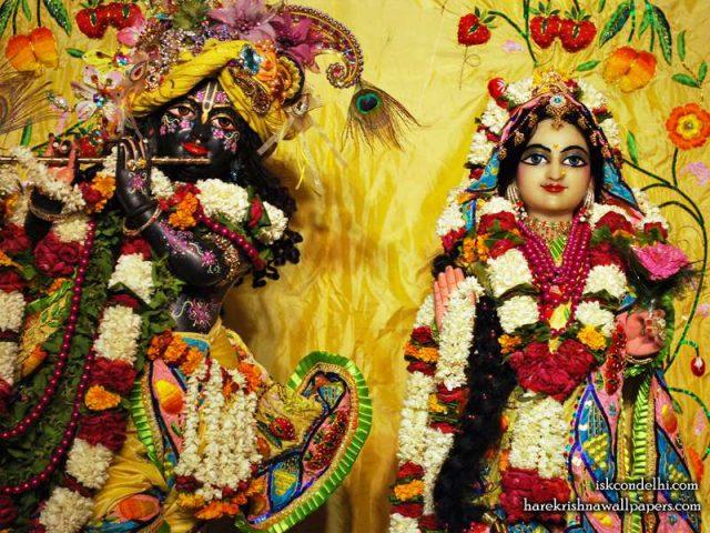 Sri Sri Radha Parthasarathi Close up Wallpaper (011)