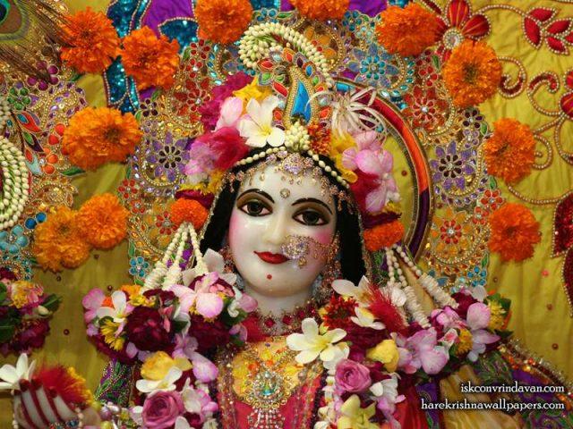 Sri Radha Close up Wallpaper (014)