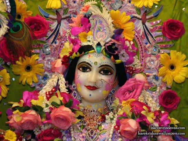 Sri Radha Close up Wallpaper (016)