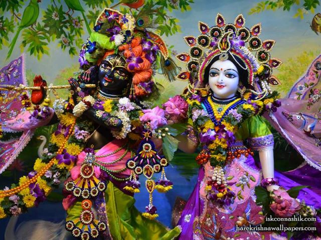 Sri Sri Radha Madan Gopal Close up Wallpaper (016)