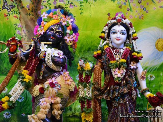 Sri Sri Radha Madan Gopal Close up Wallpaper (017)