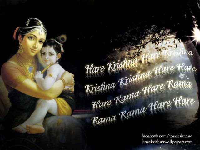 Chant Hare Krishna Mahamantra Wallpaper (023)
