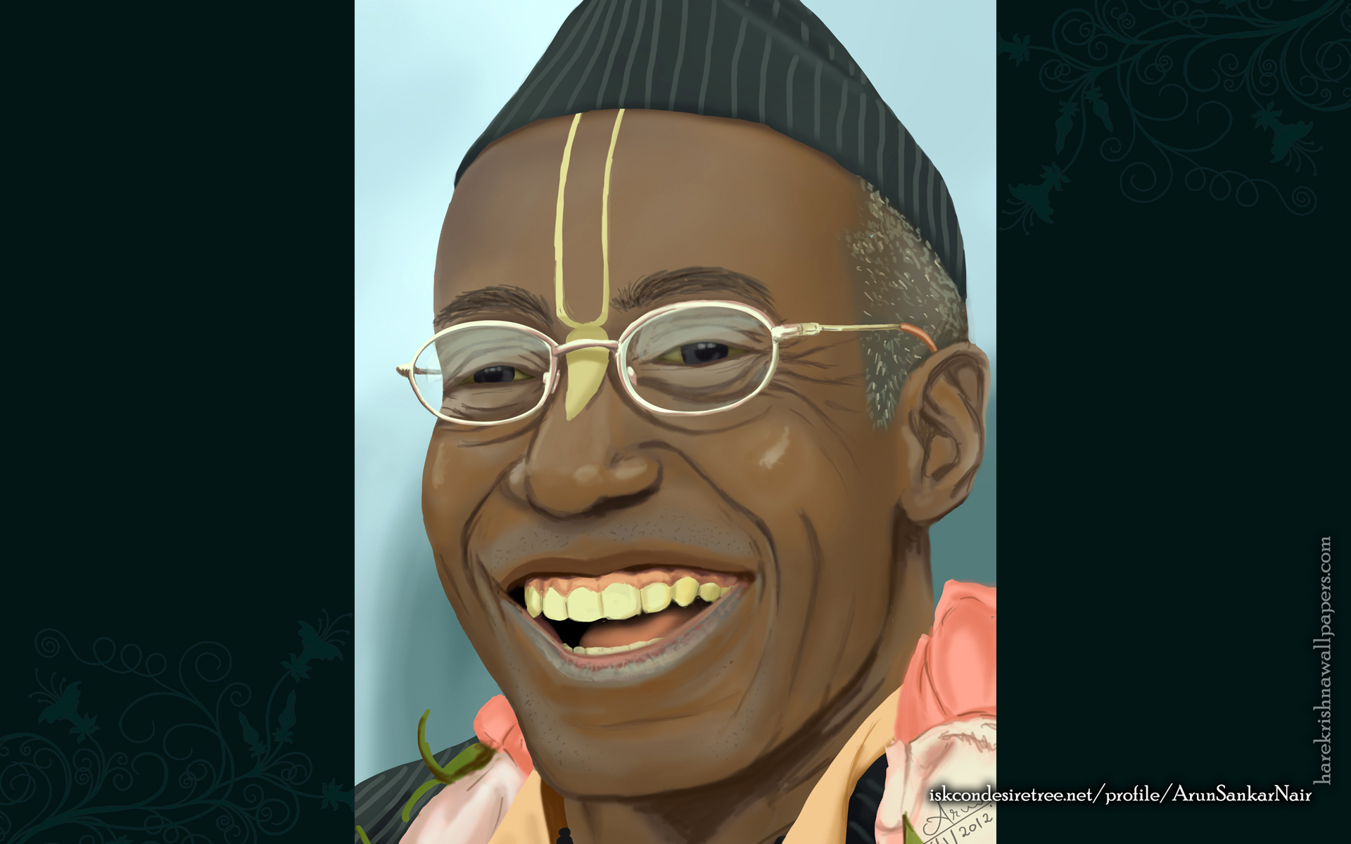 His Holiness Bhakti Tirtha Swami Wallpaper (006) Size 1920x1200 Download