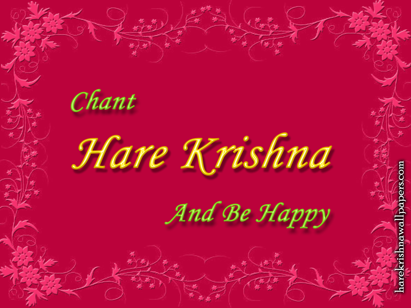Chant Hare Krishna and be happy Wallpaper (008) Size 1400x1050 Download
