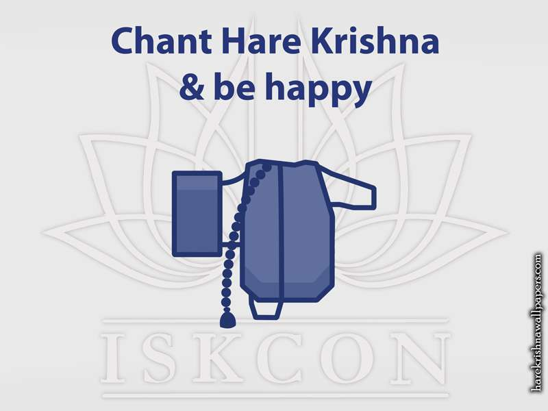 Chant Hare Krishna and be happy Wallpaper (009)