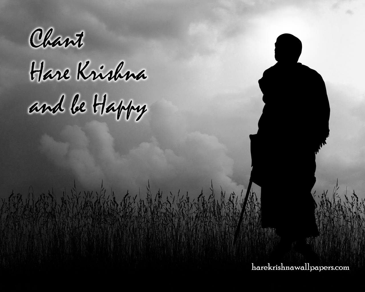 Chant Hare Krishna and be happy Wallpaper (001) Size 1280x1024 Download