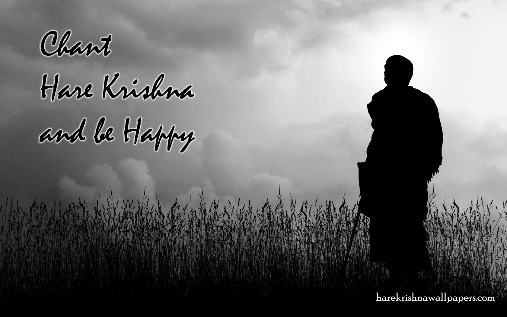 Chant Hare Krishna and be happy Wallpaper (001) Size 1680x1050 Download