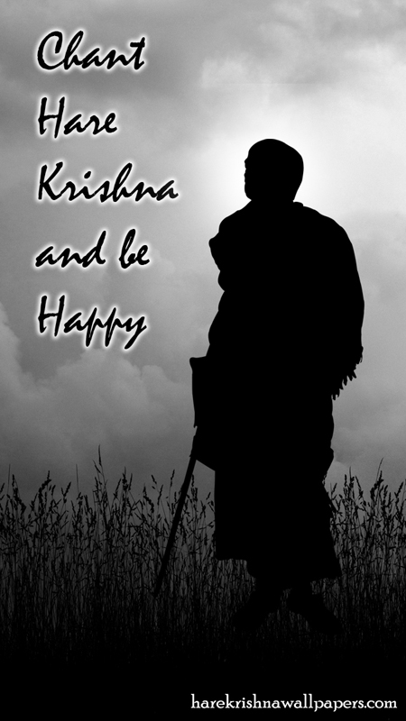 Chant Hare Krishna and be happy Wallpaper (001) Size 450x800 Download