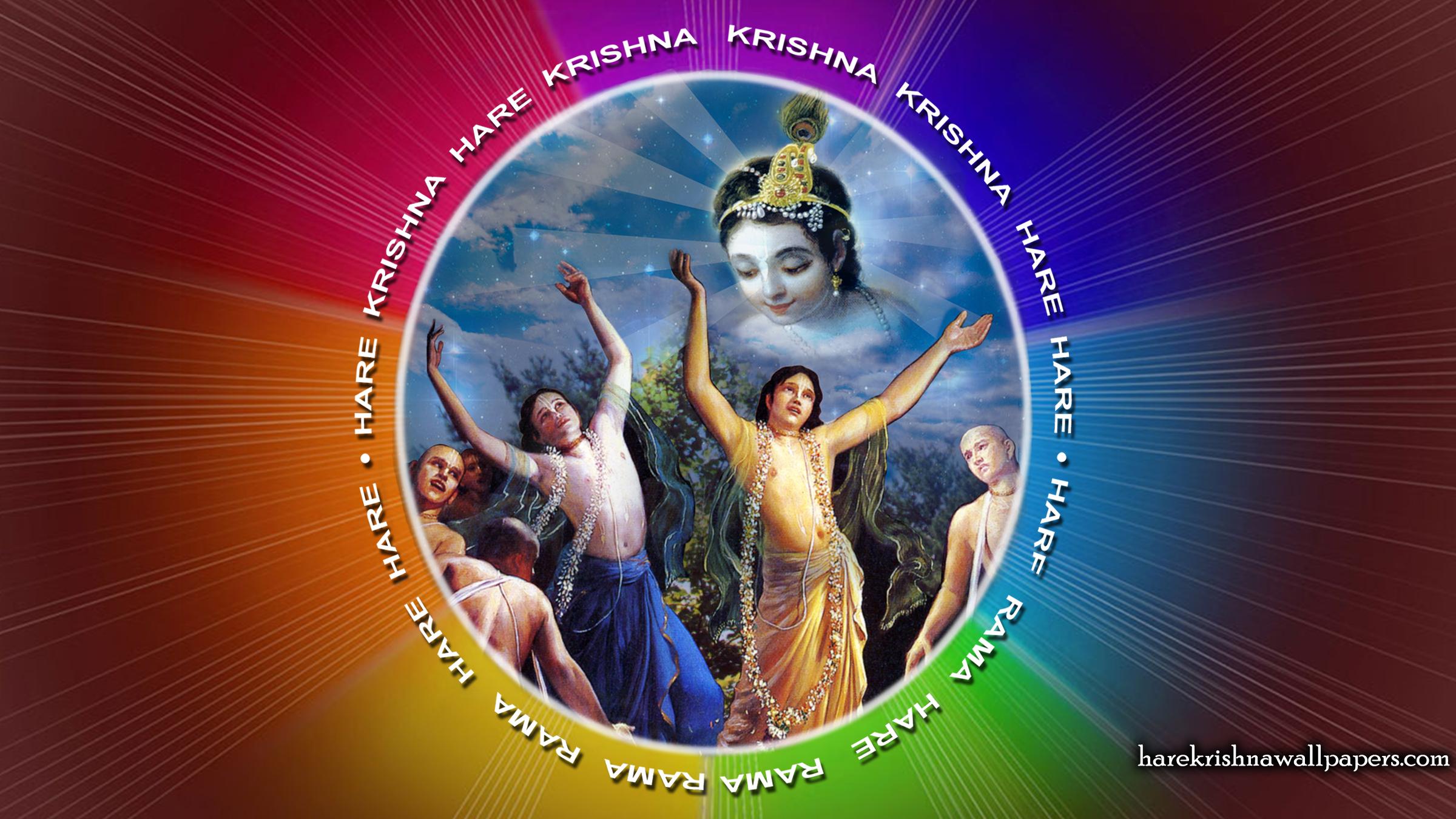 Chant Hare Krishna Mahamantra Wallpaper (005) Size 2400x1350 Download