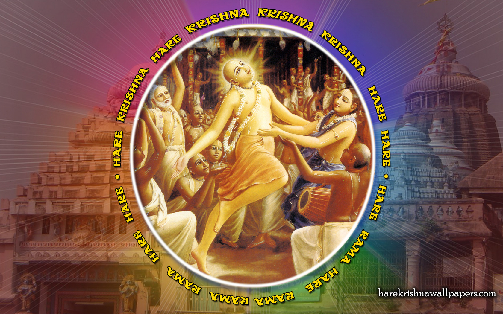 Chant Hare Krishna Mahamantra Wallpaper (009) Size 1680x1050 Download