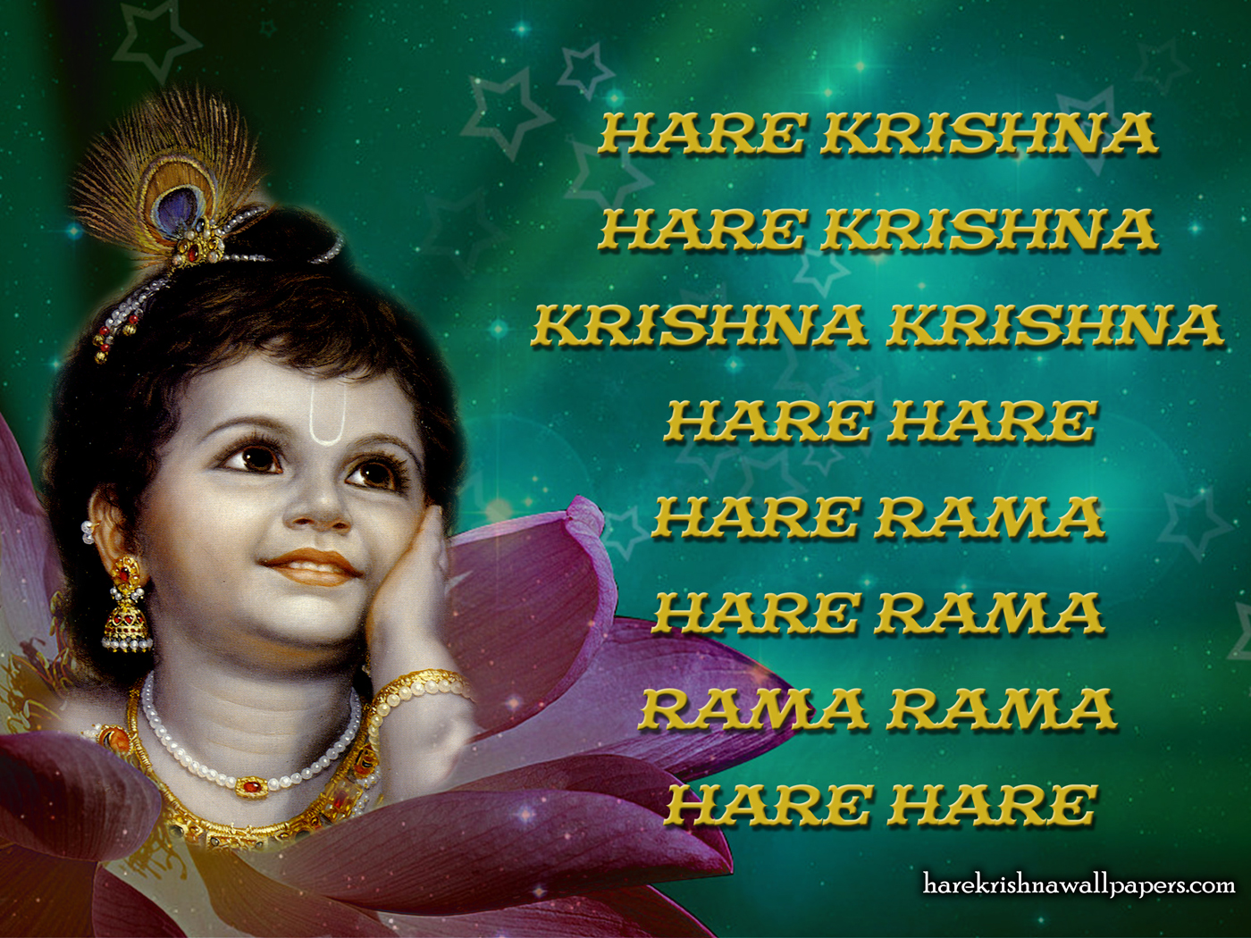 Chant Hare Krishna Mahamantra Wallpaper (011) Size 1400x1050 Download