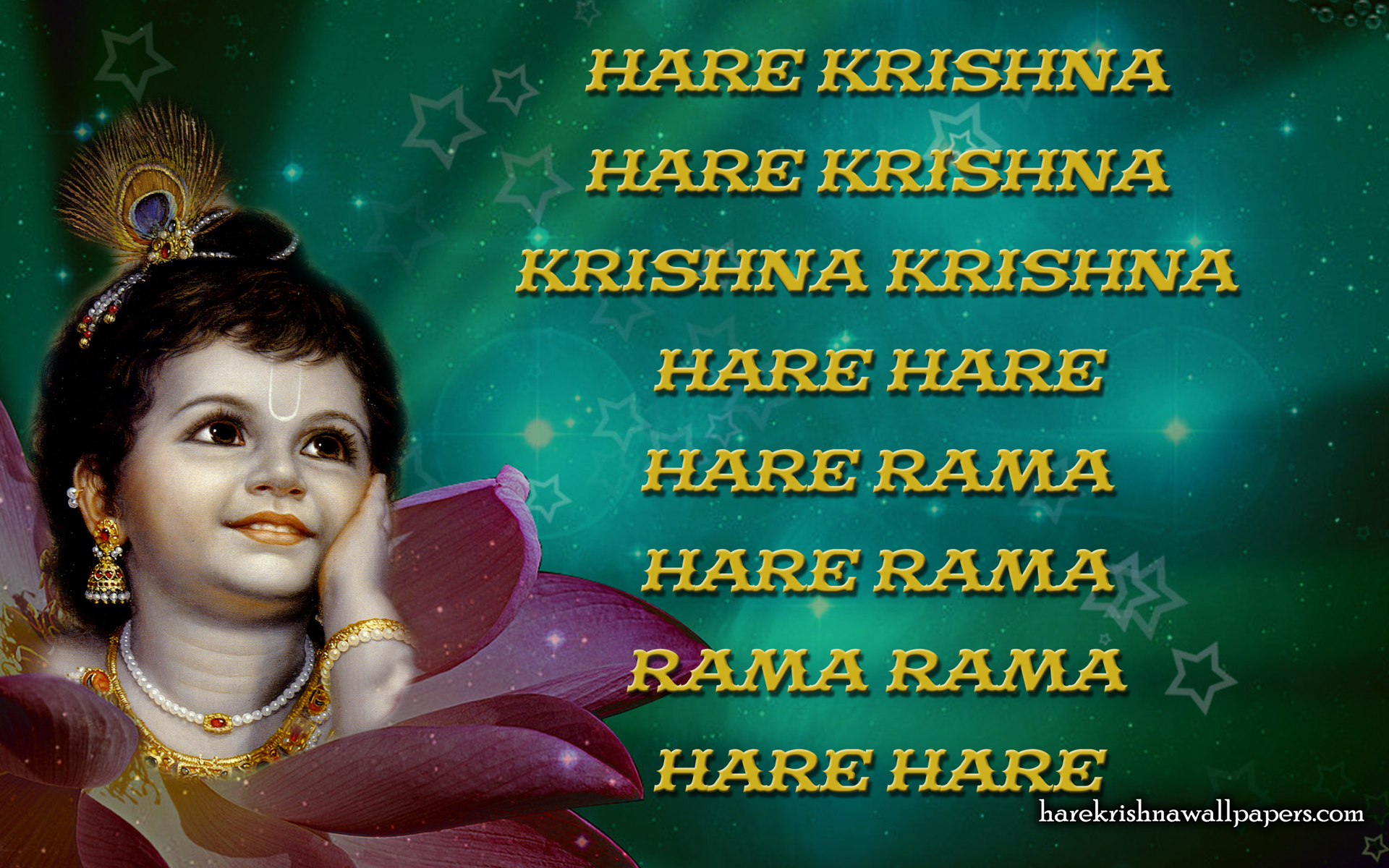 Chant Hare Krishna Mahamantra Wallpaper (011) Size 1920x1200 Download