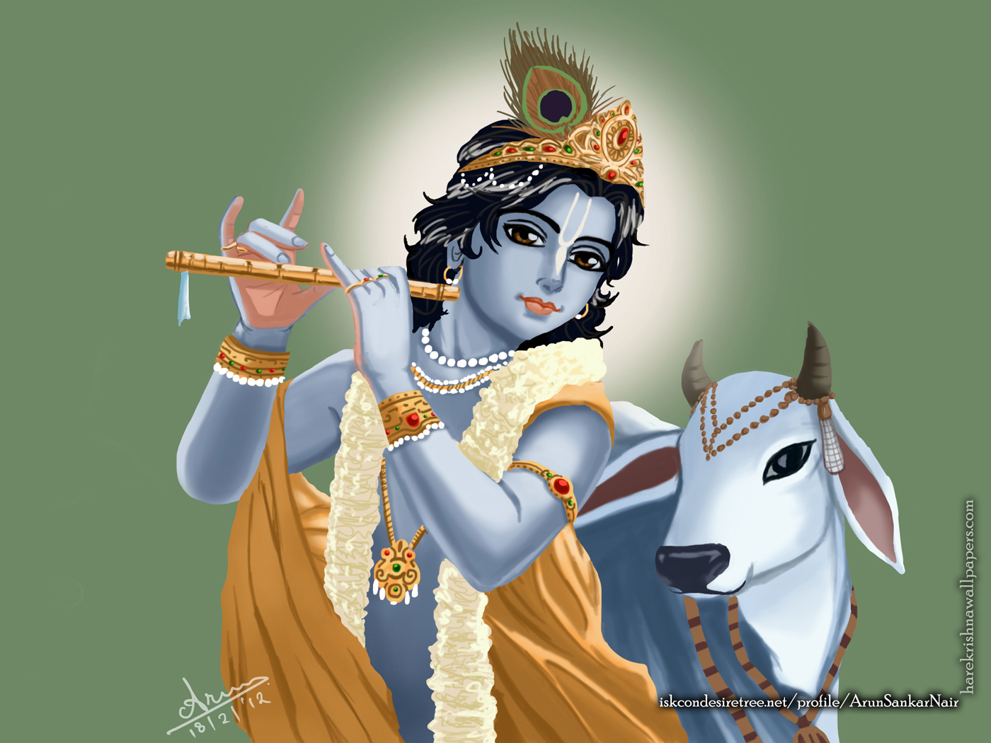 Krishna Wallpaper (018) Size 1400x1050 Download