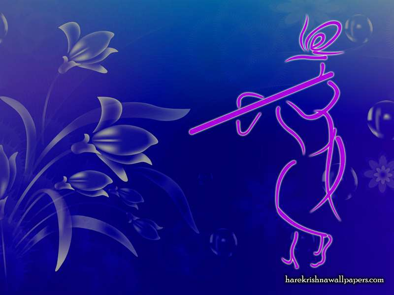Krishna with Flute Wallpaper (001)