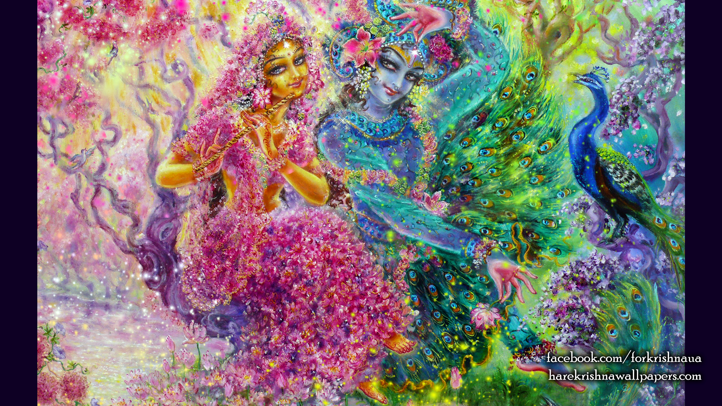 Radha Krishna Wallpaper (008) Size 2400x1350 Download