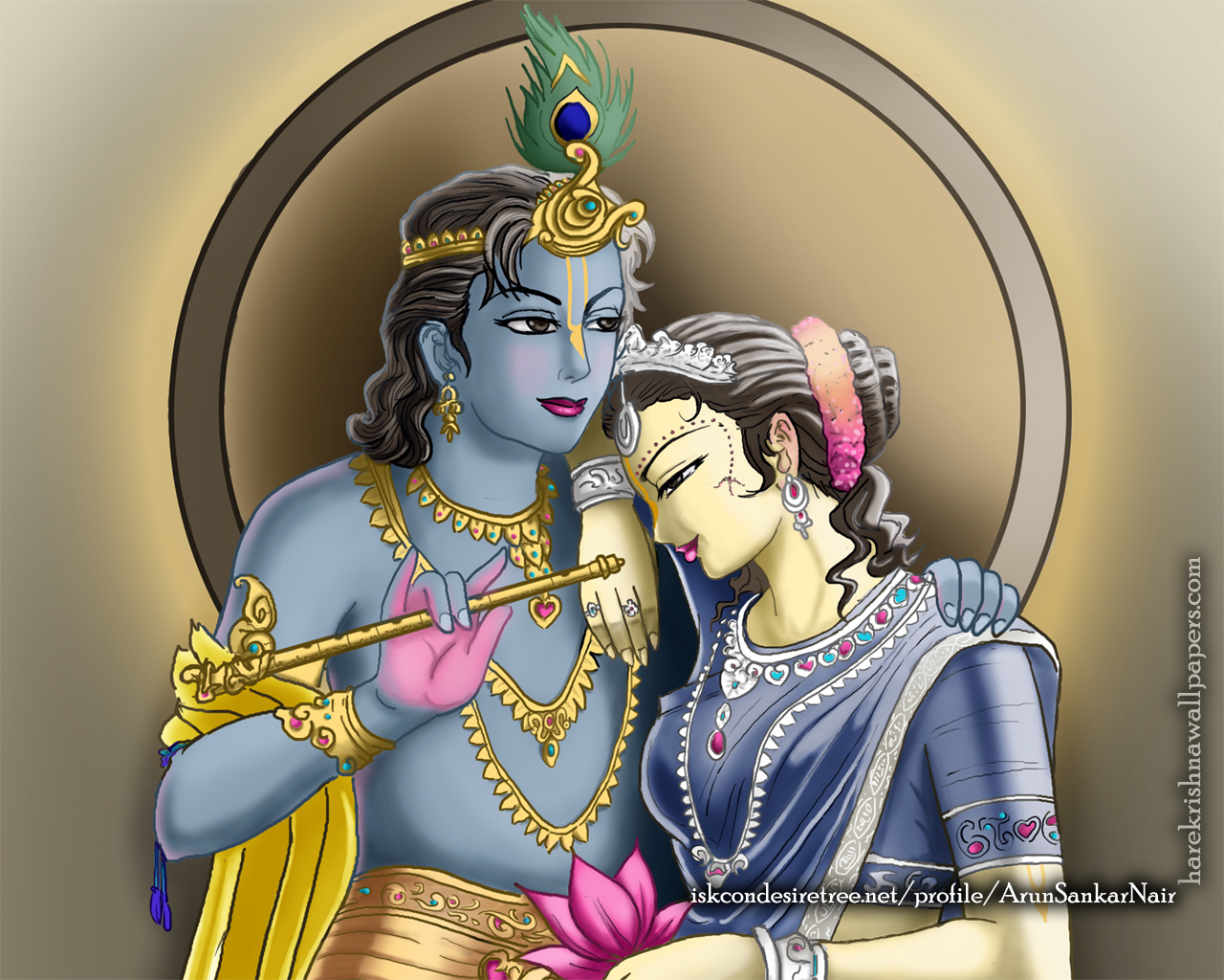 Radha Krishna Wallpaper (017) Size 1280x1024 Download