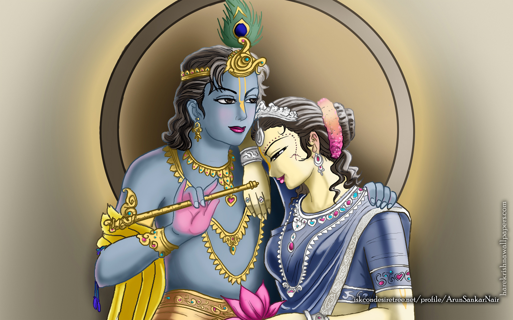 Radha Krishna Wallpaper (017) Size 1680x1050 Download