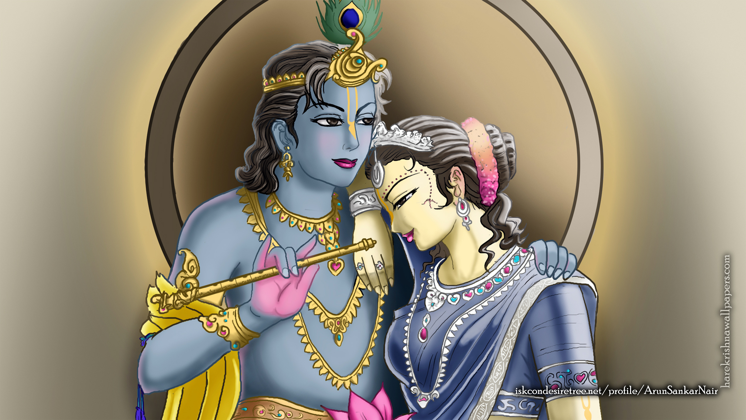 Radha Krishna Wallpaper (017) Size 2400x1350 Download