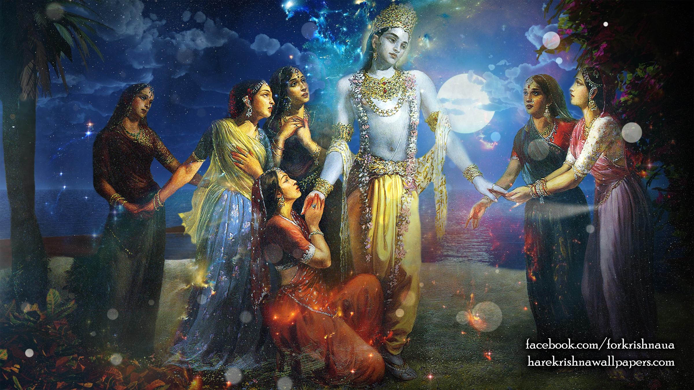 Radha Krishna Wallpaper (018) Size 2400x1350 Download