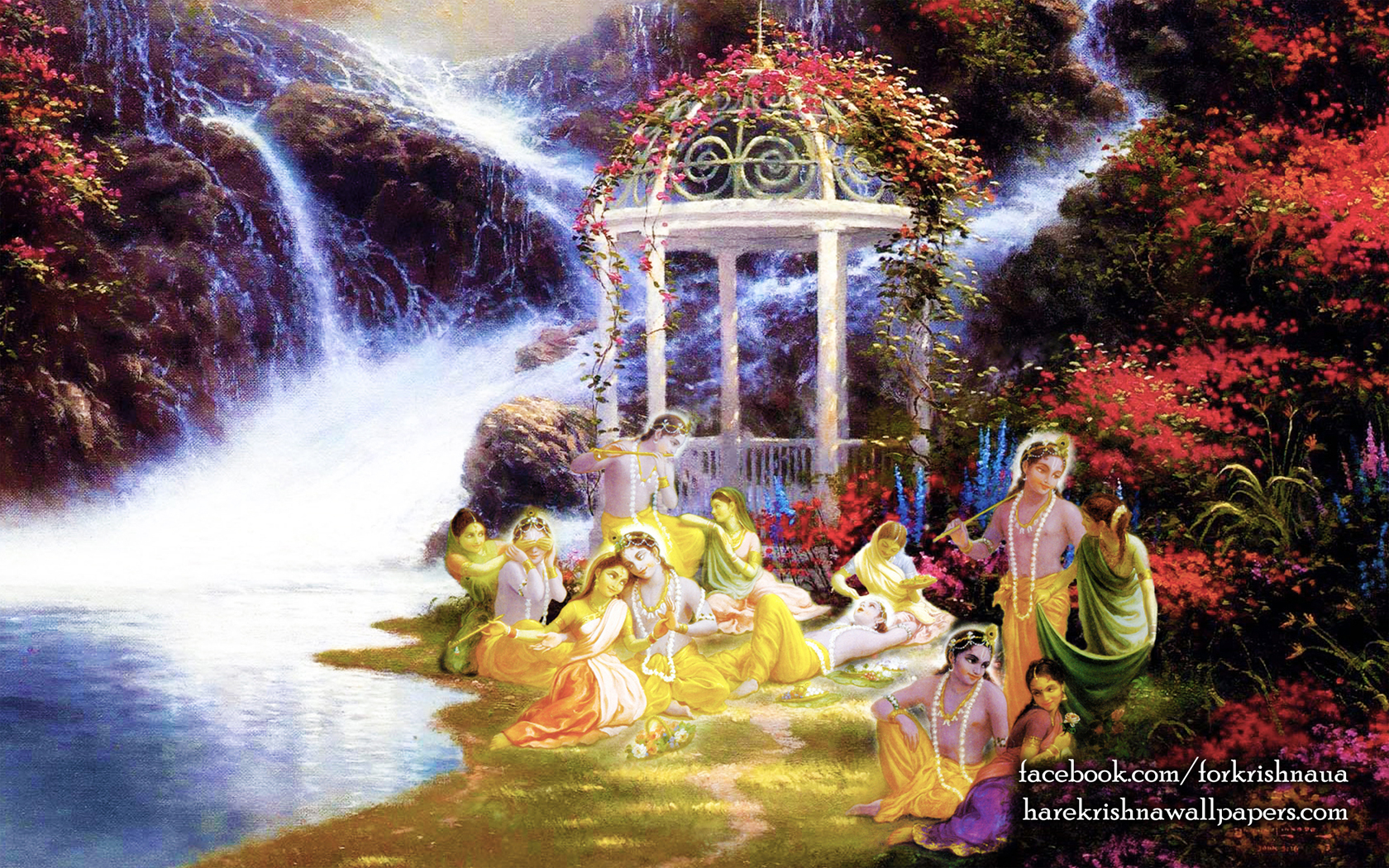 Radha Krishna Wallpaper (027) Size 1680x1050 Download