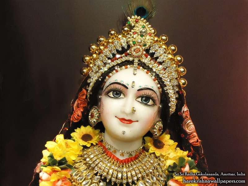 Sri Radha Close up Wallpaper (002)