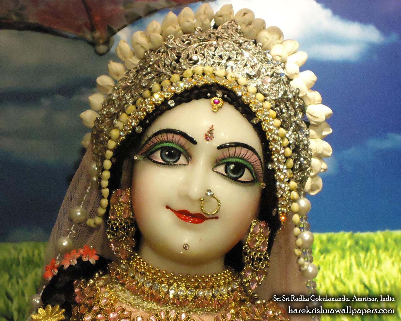 Sri Radha Close up Wallpaper (006) Size 1280x1024 Download