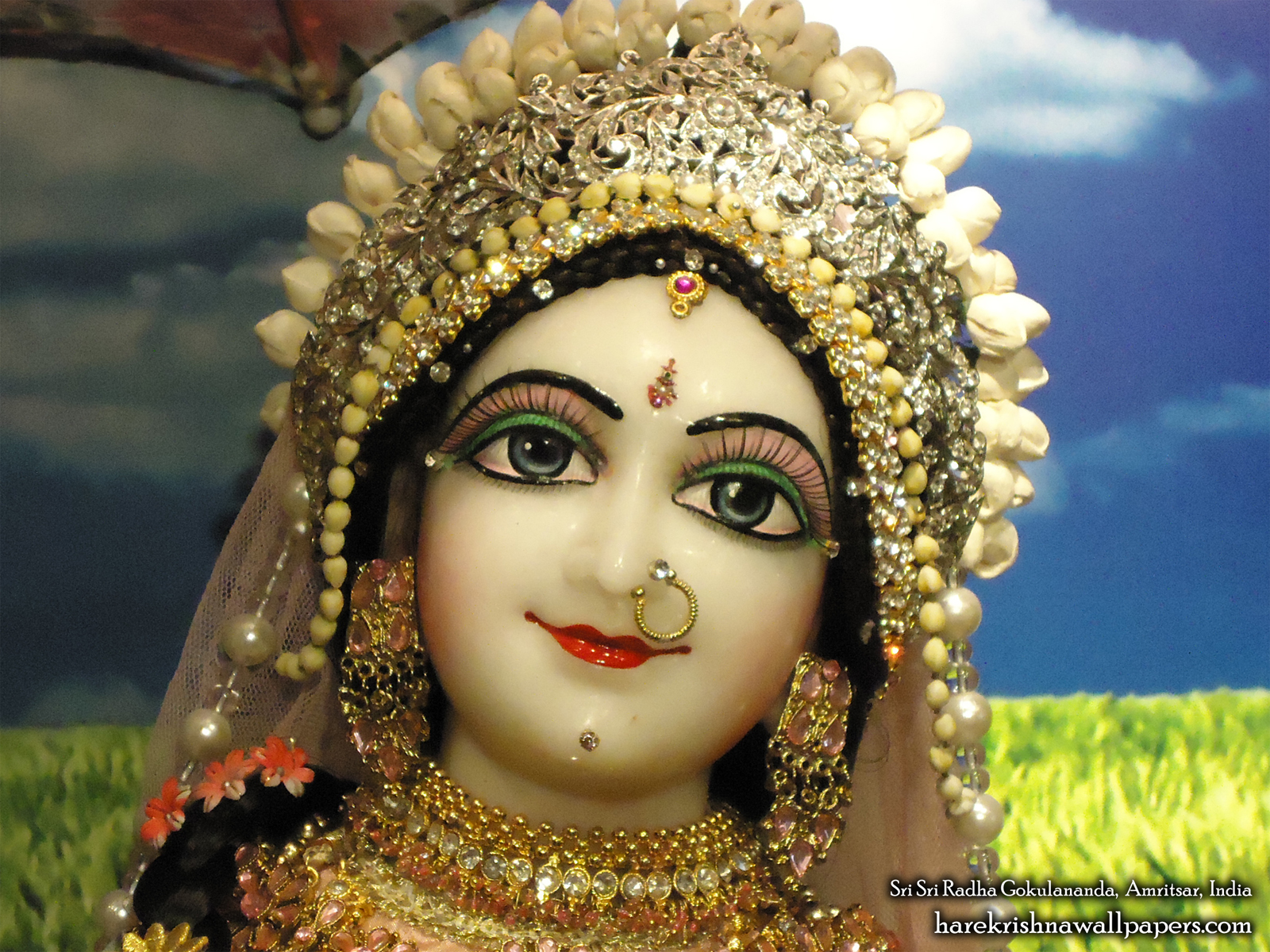 Sri Radha Close up Wallpaper (006) Size1600x1200 Download