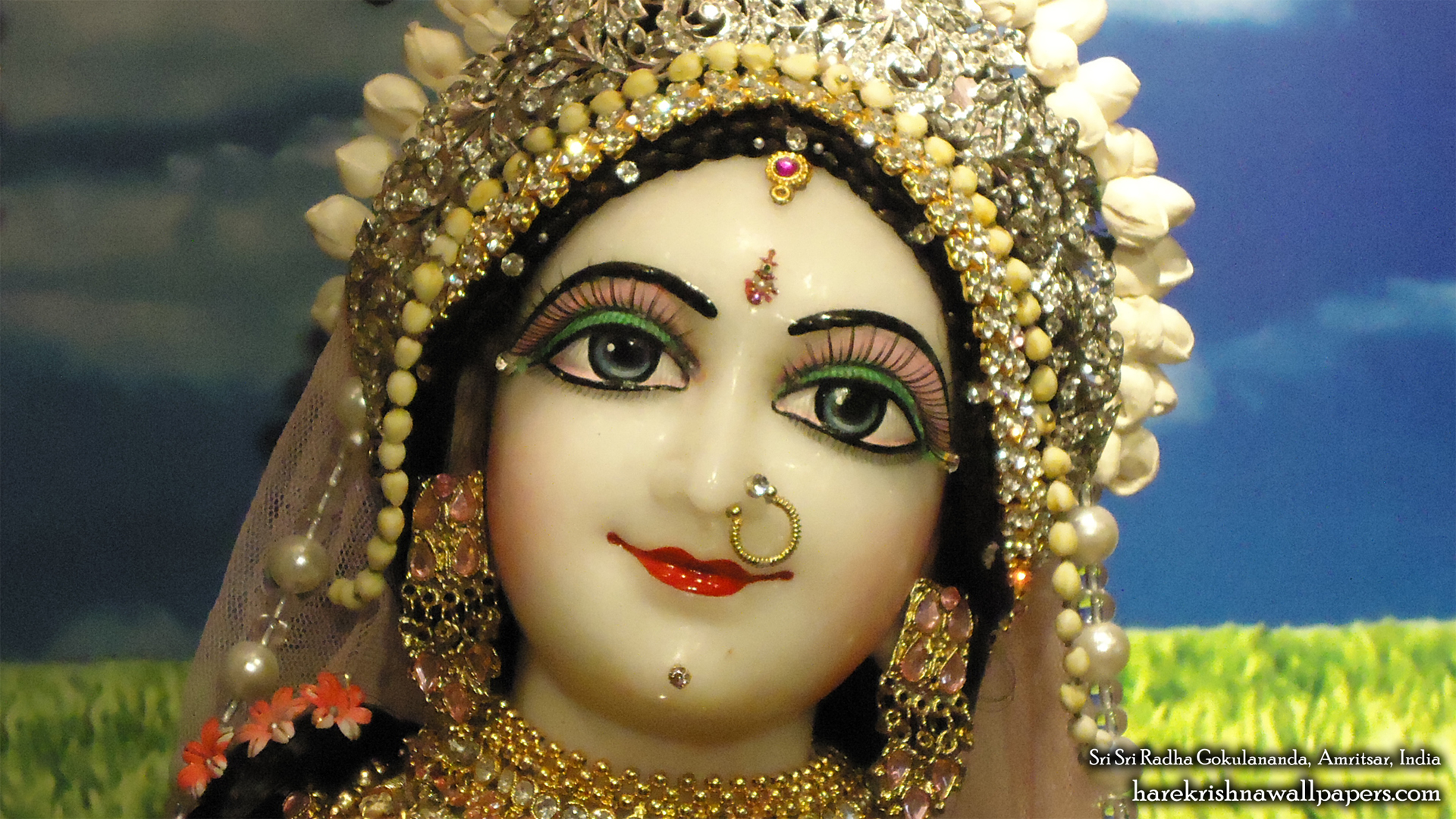 Sri Radha Close up Wallpaper (006) Size 1920x1080 Download