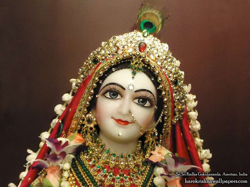 Sri Radha Close up Wallpaper (008)