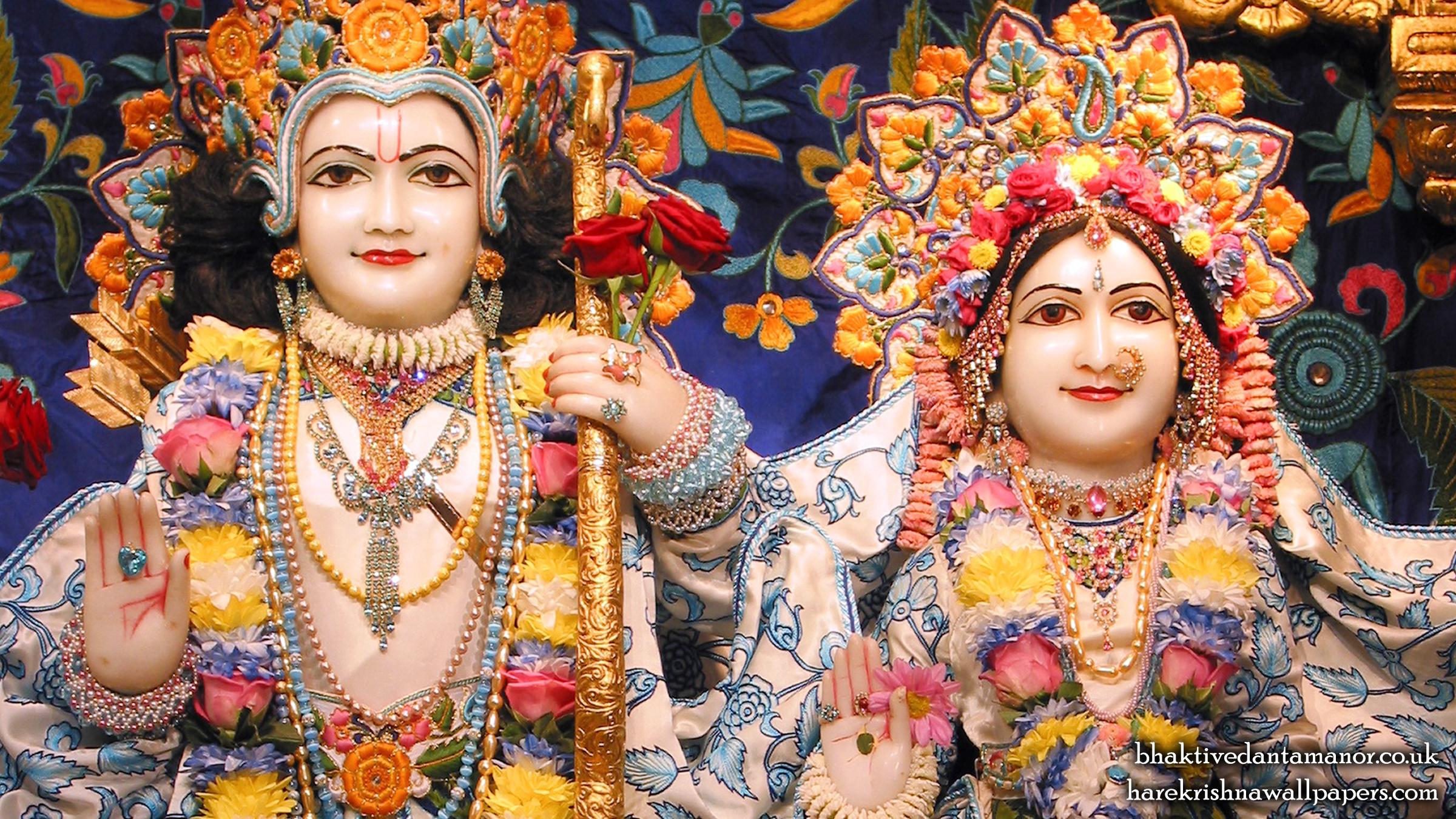 Sri Sri Sita Rama Close up Wallpaper (003) Size 2400x1350 Download