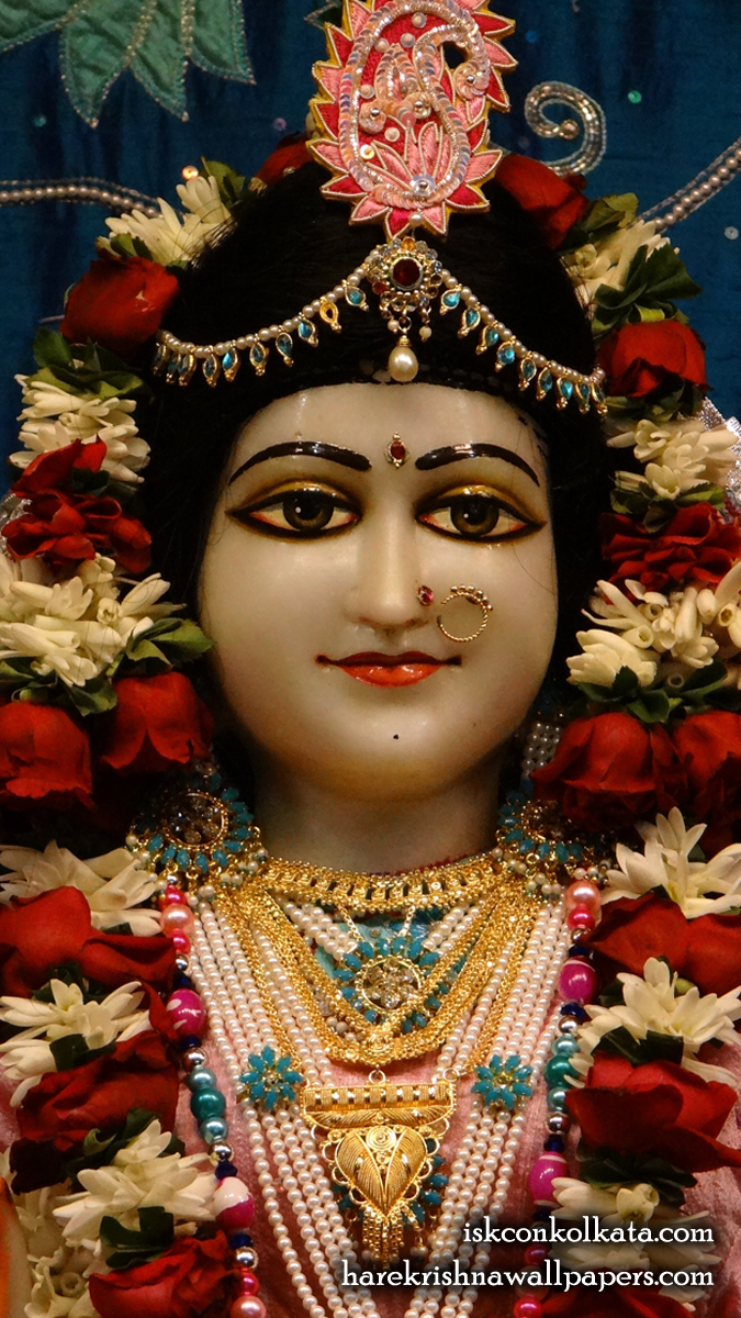 Sri Radha Close up Wallpaper (003) Size 675x1200 Download
