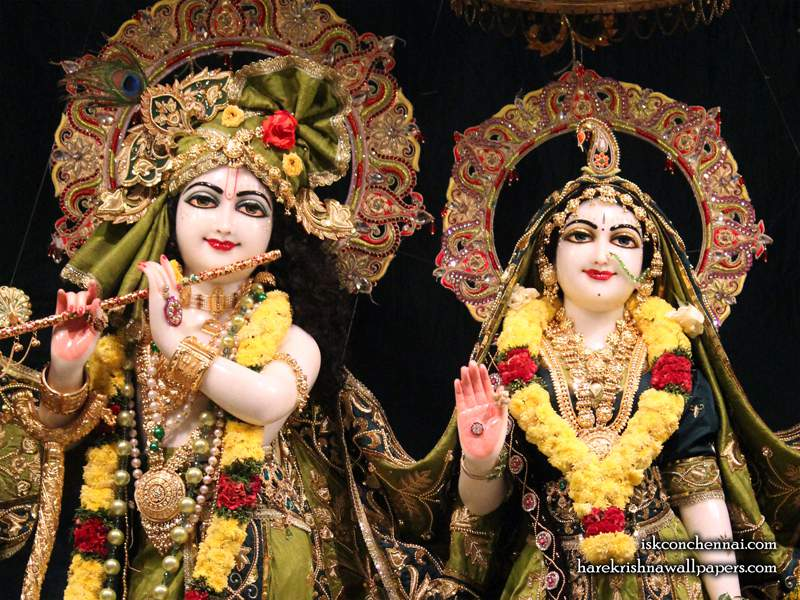 Sri Sri Radha Krishna Close up Wallpaper (017)